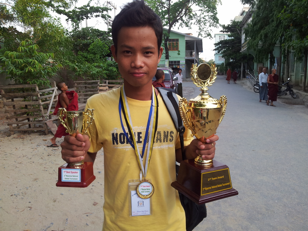 Godson Shine Wai Tun,  student and young teacher in PDO with an exceptional success