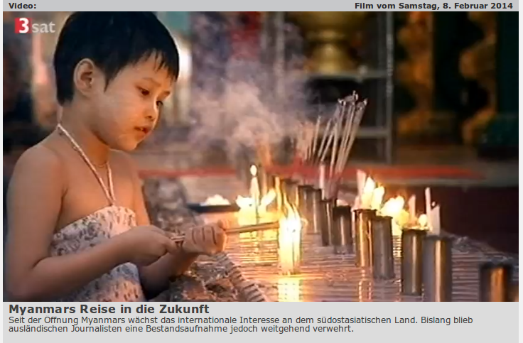 Recommended: Report from Myanmar on 3Sat