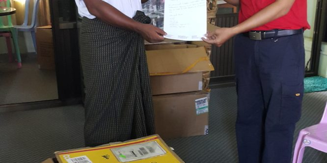 DHL sponsors and organizes the transport of laptops to Mandalay