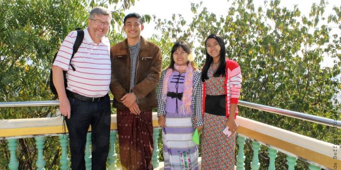 Living  sponsorship: Claude Beffort travels to his godchildren
