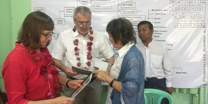 Hoher Besuch an der PDO in Mandalay