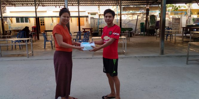 Direct delivery of protective masks for Mandalay and Mingun
